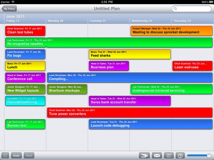 Begin - super-simple project planning for iPad