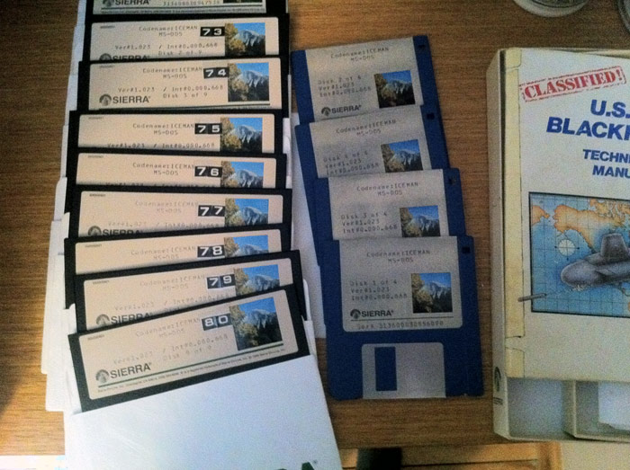 Picture of the Codename: ICEMAN disk set